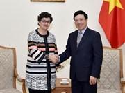 Pham Binh Minh reçoit la directrice exécutive de l'ITC