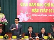 La presse apporte sa pierre à l'édifice, dit le vice-PM Vu Duc Dam