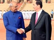 Vietnam-Inde : les deux présidents affirment approndir les liens