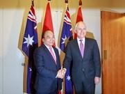 Cérémonie d'accueil officielle du PM Nguyen Xuan Phuc en Australie
