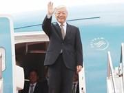 Le leader du PCV Nguyên Phu Trong termine avec succès ses visites en France et à Cuba