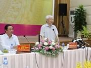 Le leader du PCV inspecte le développement socio-économique de Dông Thap