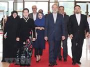Le président de l'Assemblée consultative islamique d'Iran termine sa visite au Vietnam
