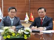 Renforcement de la coopération avec la R. de Corée dans la finance