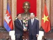 Le président Trân Dai Quang reçoit le ministre cambodgien des Affaires étrangères