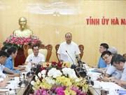 Le PM travaille avec les autorités de Ha Nam