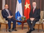 Le PM Nguyen Xuan Phuc rencontre le Priemier ministre de l'Etat du Québec