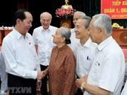 Le président Tran Dai Quang rencontre des électeurs de Ho Chi Minh-Ville