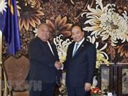 Le Premier ministre rencontre le président de la République de Nauru à Da Nang