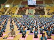 La quatrième journée internationale du yoga célébrée à Gia Lai