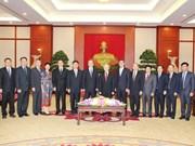 Le leader du PCV reçoit une haute délégation du PCC