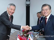 Le président sud-coréen entame une visite d'Etat à Singapour
