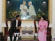 Ho Chi Minh-Ville reçoit une délégation de la province laotienne de Champassak