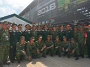 Le Vietnam aux Jeux militaires internationaux 2018 en Russie