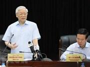 Le leader du PCV travaille avec la commission centrale de propagande et d'éducation du Parti