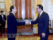 Le président Tran Dai Quang reçoit de nouveaux ambassadeurs étrangers