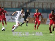 Football : le Vietnam bat le Népal 2-0 aux ASIAD 18