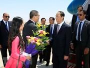 Le président Tran Dai Quang entame sa visite d'Etat en Egypte