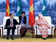 Le président Tran Dai Quang rencontre la présidente p.i de la Commission de l'Union africaine
