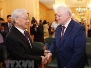Le leader du PCV reçoit le président du parti Russie juste