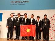 Informatique : Le Vietnam remporte quatre médailles aux IOI 2018