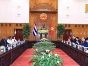 Le Vietnam chérit toujours ses liens avec Cuba, affirme le PM