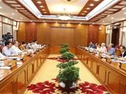 Le BP donne des avis sur les projets à soumettre au 8e Plénum du CC du PCV (XIIe exercice)