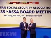 Remise des prix de l'Association de sécurité sociale de l'ASEAN