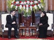La présidente p.i Dang Thi Ngoc Thinh reçoit le Premier ministre sud-coréen