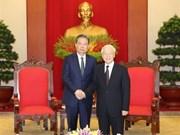 Le leader du Parti salue les bonnes relations entre le Vietnam et la Chine