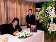 Des responsables rendent hommage au président Tran Dai Quang en Chine et en Pologne