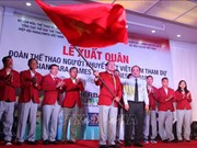 Les sportifs vietnamiens en Indonésie pour les Asian Para Games