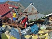Séisme et tsunami en Indonésie : installation de refuges pour les survivants