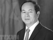 Condoléances de la République d'Arménie pour le décès du président Trân Dai Quang
