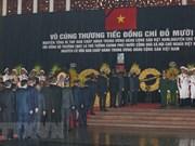 Plus de 1 500 délégations vietnamiennes et étrangères rendent hommage à l'ancien secrétaire général Do Muoi