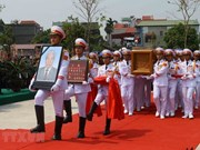 Cérémonie d'enterrement de l'ancien secrétaire général Do Muoi