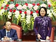 La présidente par interim Dang Thi Ngoc Thinh reçoit des chefs des PME