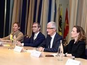 Le PM Nguyen Xuan Phuc rencontre les ministres des régions flamande et wallonne de Belgique