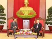 Le leader du PCV et président Nguyên Phu Trong reçoit le PM français Édouard Philippe