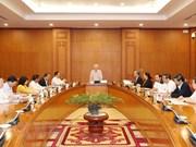 Le dirigeant vietnamien Nguyen Phu Trong souligne l'importance de la planification du personnel
