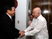 Un haut dirigeant cubain reçoit une délégation du PCV