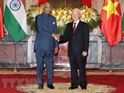 Vietnam-Inde : entretien Nguyen Phu Trong  et  Ram Nath Kovind