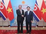 Le vice-PM et ministre des AE Pham Binh Minh s'entretient avec le ministre des AE de la RPDC