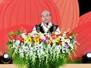 Le PM Nguyen Xuan Phuc au Festival de la culture des gongs du Tây Nguyên 2018