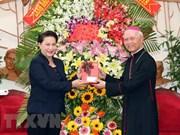 La présidente de l'AN adresse ses félicitations de Noël à Dong Nai