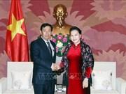 La présidente de l'AN reçoit une délégation du Parti birman USDP