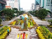 Têt 2019 : préparation de la rue florale Nguyên Huê à Hô Chi Minh-Ville