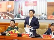 Vu Duc Dam à une conférence sur la recherche des restes de martyrs