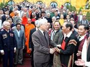 Le SG et président reçoit des personnalités ethniques exceptionnelles