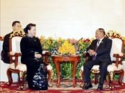 La présidente de l'AN appelle à l'achèvement de la pose des bornes sur la frontière Vietnam-Cambodge